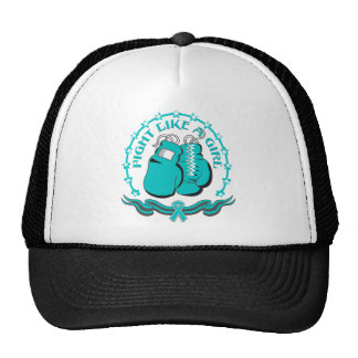 Peritoneal Cancer Fight Like A Girl Sporty Cap