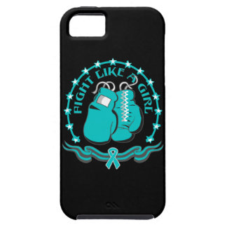 Peritoneal Cancer Fight Like A Girl Sporty iPhone 5 Case