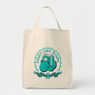 Peritoneal Cancer Fight Like A Girl Sporty Canvas Bag