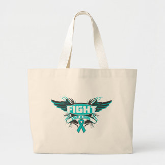Peritoneal Cancer Fight Like a Girl Wings.png Tote Bag