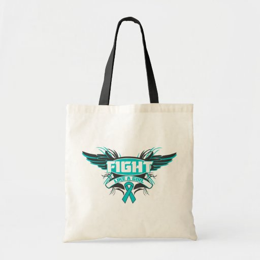 Peritoneal Cancer Fight Like a Girl Wings.png Bags