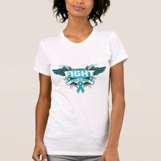 Peritoneal Cancer Fight Like a Girl Wings.png T Shirt
