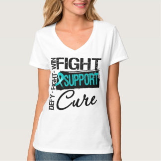 Peritoneal Cancer Fight Support Cure T Shirts