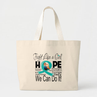 Peritoneal Cancer Fight We Can Do It Jumbo Tote Bag