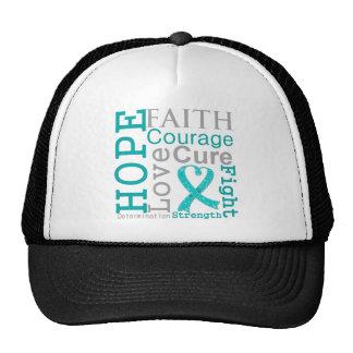 Peritoneal Cancer Hope Faith Motto Hat