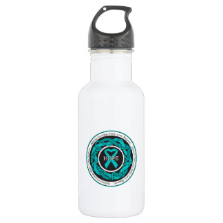 Peritoneal Cancer Hope Intertwined Ribbon 532 Ml Water Bottle