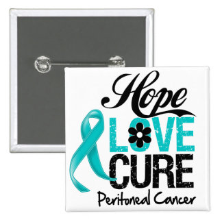 Peritoneal Cancer Hope Love Cure Pins