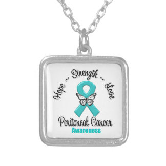 Peritoneal Cancer Hope Strength Love Custom Necklace