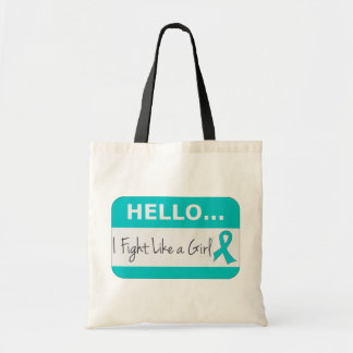 Peritoneal Cancer I Fight Like a Girl Tote Bags
