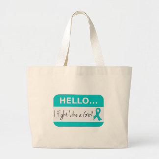 Peritoneal Cancer I Fight Like a Girl Canvas Bags