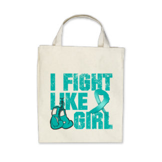 Peritoneal Cancer I Fight Like A Girl Grunge Canvas Bag