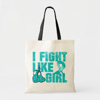 Peritoneal Cancer I Fight Like A Girl (Grunge) Tote Bag