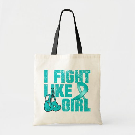 Peritoneal Cancer I Fight Like A Girl (Grunge) Tote Bag