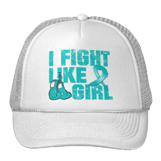 Peritoneal Cancer I Fight Like A Girl (Grunge) Trucker Hats