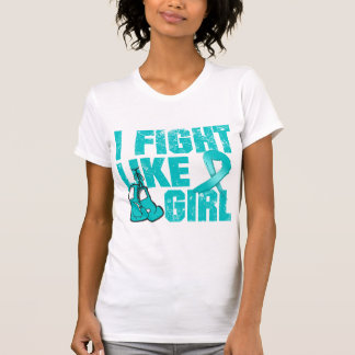 Peritoneal Cancer I Fight Like A Girl (Grunge) T-shirt
