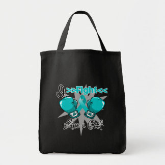 Peritoneal Cancer I Fight Like a Girl With Gloves Tote Bag
