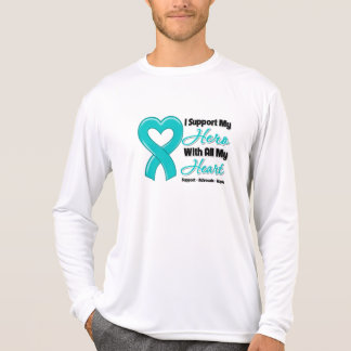 Peritoneal Cancer I Support My Hero With All My He T Shirt