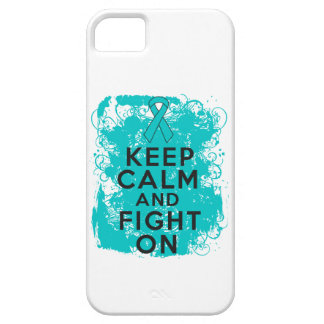 Peritoneal Cancer Keep Calm and Fight On iPhone 5 Case