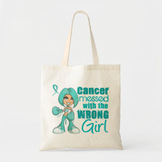 Peritoneal Cancer Messed With Wrong Girl.png Canvas Bags