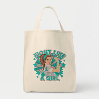 Peritoneal Cancer Modern Rosie Fight Canvas Bag