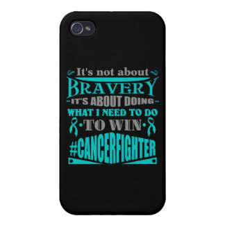 Peritoneal Cancer Not About Bravery iPhone 4 Covers