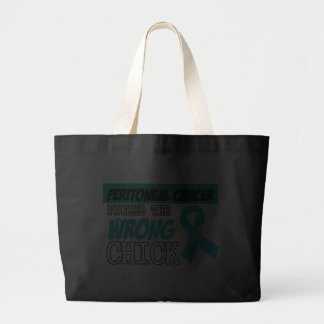 Peritoneal Cancer Picked The Wrong Diva Canvas Bag