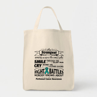Peritoneal Cancer Strongest Among Us Grocery Tote Bag