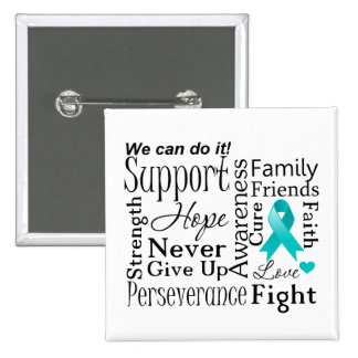 Peritoneal Cancer Supportive Words Pin