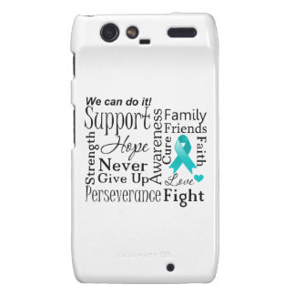 Peritoneal Cancer Supportive Words Motorola Droid RAZR Covers