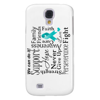 Peritoneal Cancer Supportive Words Galaxy S4 Covers