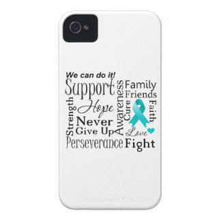 Peritoneal Cancer Supportive Words Case-Mate iPhone 4 Cases