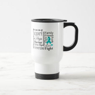 Peritoneal Cancer Supportive Words Mugs