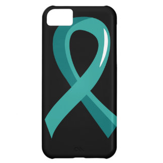 Peritoneal Cancer Teal Ribbon 3 iPhone 5C Case