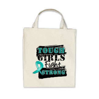 Peritoneal Cancer Tough Girls Fight Strong Bag