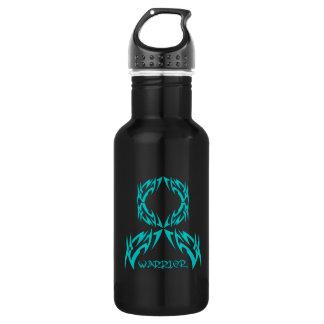 Peritoneal Cancer Tribal Warrior Ribbon 532 Ml Water Bottle