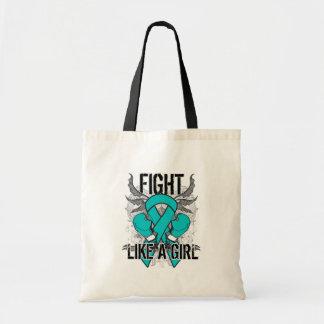 Peritoneal Cancer Ultra Fight Like A Girl Tote Bag