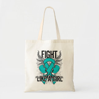Peritoneal Cancer Ultra Fight Like A Girl Canvas Bag