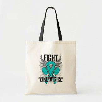 Peritoneal Cancer Ultra Fight Like A Girl Tote Bags