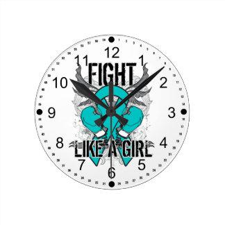 Peritoneal Cancer Ultra Fight Like A Girl Clocks