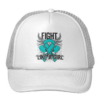 Peritoneal Cancer Ultra Fight Like A Girl Mesh Hat