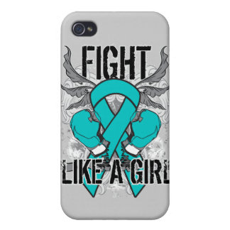 Peritoneal Cancer Ultra Fight Like A Girl Cases For iPhone 4