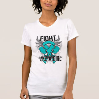 Peritoneal Cancer Ultra Fight Like A Girl T Shirts