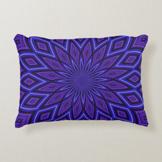 Periwinkle and Purple Kaleidoscope Decorative Cushion