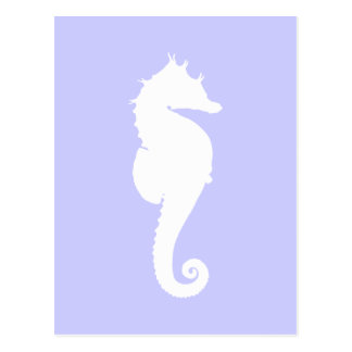 Periwinkle and White Sea Horse Postcard