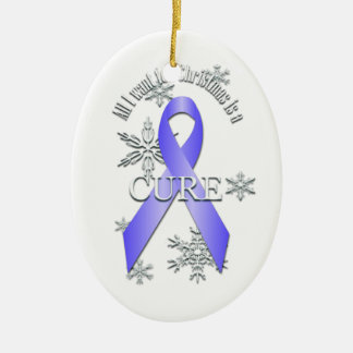 Periwinkle Awareness Christmas Cure Ornament