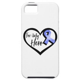 Periwinkle Awareness Ribbon For My Hero iPhone 5 Case