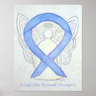 Periwinkle Awareness Ribbon Guardian Angel Print