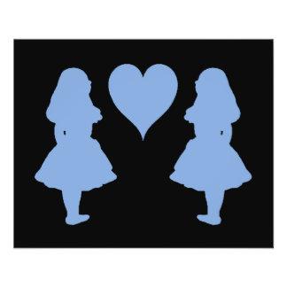 Periwinkle Blue Alice to Alice 11.5 Cm X 14 Cm Flyer