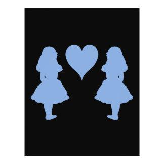 Periwinkle Blue Alice to Alice 21.5 Cm X 28 Cm Flyer