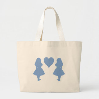 Periwinkle Blue Alice to Alice Jumbo Tote Bag